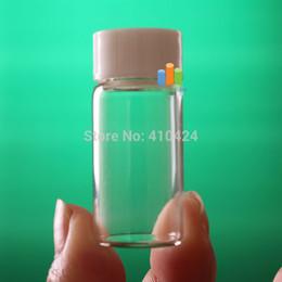 Bouchons à vis en plastique en Ligne-(10pcs / lot) 5 ml bouteilles en verre transparent souhaitant des flacons avec bouchon à vis en plastique commander $ 18no track