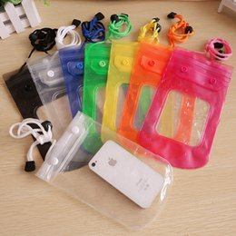 Wholesale Cellphone Sleeves - 20x12CM Free shipping hot sale Mobile phone waterproof sleeve cellphone bag Tour swimming floating waterproof phone bag