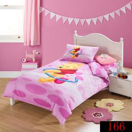 Wholesale Winnie Pooh Comforter Sets - Cartoon Animation,Children Kids 3pcs Bedding Set Twin Size 100% Cotton Quilt Cover Set Pillow Cases Winnie Pooh Home Textile Duvet Cover