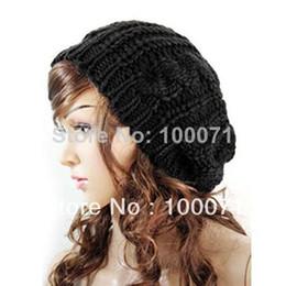 Novas Mulheres Senhoras Baggy Boina Chunky Knit Trançado De Malha Gorro Chapéu Cap Ski # 47504 de
