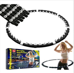 Wholesale Wheel Weights Wholesale - Removable Magnetic Massage Hula Hoop Fitness Lose Weight Hoop Free Shipping 12pcs lot Free Shiping by DHL