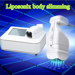 Wholesale Portable Tft - Portable Liposonix hifu Desktop Skin Tightening body Slim Machine for Home Use with 10 inch TFT touch screen