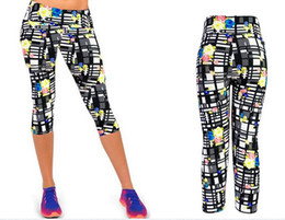 Pantalons de femme nouveau mode en Ligne-Mode Nouveau Capri Femmes Leggings Taille Haute Floral Impression Sport Pantalon Lady Finess Workout Pantalon Décontracté
