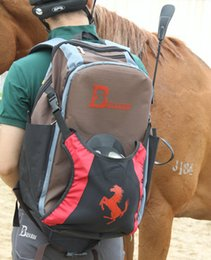Wholesale Whip Women - Horse riding backpack Universal equestrian sport day pack Professional bag Waterproof nylon whip helmet boots rucksack