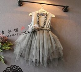 Wholesale Wholesale Girls Feather Dress - Wholesales korean kids clothes 2015 spring summer girls clothes girls princess party layers of lace feather dress girls wedding dress