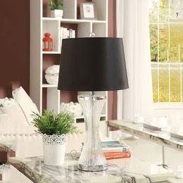 Wholesale Crystal K9 Table Lamp - Table Lamp Modern Fashion Simple Fabric K9 Crystal Desk Lamp Living Room Bedroom Bedside Decorative Light