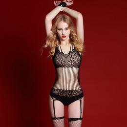 Wholesale Lingerie Leotards - Rimes sexy lingerie net sling stockings temptation perspective leotard net Adult supplies 7034