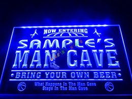Wholesale Bar Restaurant Names - DZ033-b Name Personalized Custom Man Cave Basketball Bar Neon Sign.JPG