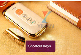 Wholesale Old Senior Phones - cool senior mobile phone flip sos support FM dual sim card,camera ,big keyboard, for old man phone