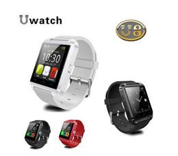 U8 sport u guardare online-Bluetooth Smart Watch Orologio da polso U8 U Orologio Smartwatch Sport da polso per iPhone 6 Samsung Android Phone Smartphones