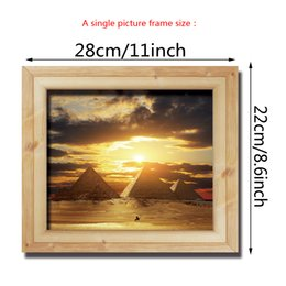 Wholesale Photo Frames For Walls - 3D Photo Frame Scenery Wall Stickers for Kids Room DIY Home Decorations Wall decals Wall art cartoon