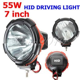 Wholesale Xenon Inch Fog Lights - 7 INCH 55W For HID XENON FOG LAMP DRIVING OFFROAD WORK LIGHT SPOT BEAM Light For TRUCK SUV ATV order<$18no track
