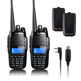 Wholesale Tyt Dual Band Walkie Talkie - Wholesale-TYT TH-UV8000D 10W Dual Band Amateur Transceiver Walkie Talkie Two Way Radio + 2 Extra Original Batteries+USB Programming Cable