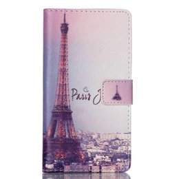Wholesale Eiffel Towe - Eiffel Towe Leather Cover for Huawei Ascend P8 Lite Case Flip Luxury Card Holder Wallet Phone Bag smartphone Protector Coque