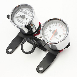 Wholesale Tachometer Odometer - Motorcycle Universal Refitting Speedometer Odometer Tachometer Gauge with holder