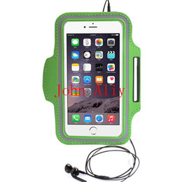 Wholesale Iphone Sport Case Strap - Hot Waterproof Fashion Leather Sports Running Armband Phone Case For iPhone 6 Plus 5.5'' Belt Wrist Strap GYM Arm Band Cover