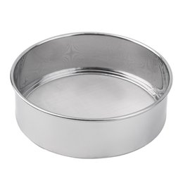 Wholesale Stainless Steel Flour Sieve - 1pc Stainless Steel Mesh Flour Sifting Sifter Sieve Strainer Cake Baking Kitchen Brand New