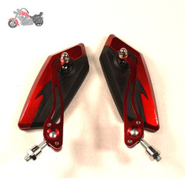 Wholesale Motor Moto Scooter - motorcycle mirror cafe racer accesorios motos Motorcycle Rear View Mirror motor spiegels side mirrors retroviseur scooter espelhos moto