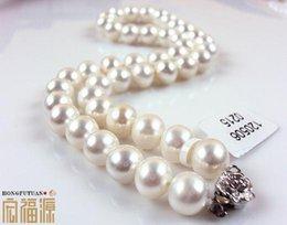 rosario di cristallo bianco Sconti Commercio all'ingrosso bella collana di perle bianche 6-7mm impeccabile naturale HFY- 081