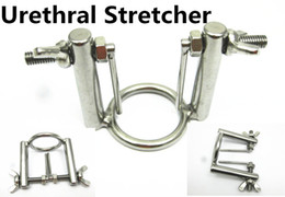 Wholesale Urethral Sounding Devices - Stainless Steel Penis Urethral Stretcher Exploration Plugs BDSM Bondage Torture Gear Device Adult Sex Toys for Men SMGC-00456