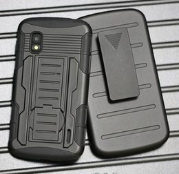 Wholesale Nexus Rugged - Heavy Duty Future Armor Rugged Defender Holster Belt Clip Combo Hybrid Kickstand Case For LG Nexus 4 E960 Nexus 5 6 Skin Shockproof