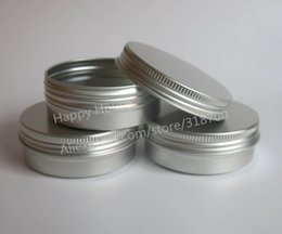 Wholesale Wholesale Cosmetic Bottles For Creams - Free Shipping - 50 x 60g aluminum jar, metal jar for cream powder gel use, 2 oz cosmetic bottles, 60ml aluminum container