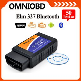 Wholesale Elm 327 Obdii Scanner - 10PCS LOT Auto Scanner Tool ElM327 BLUETOOTTH OBD OBD2   OBDii ELM 327 V2.1 Support All IOS and Android Free Shipping