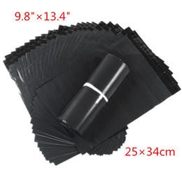 Wholesale Plastic Courier Bag Envelopes - 100pcs lot 25*34cm Dark Grey Poly Mailing Bags Plastic Envelope Express Bags Courier Bags High Quality Free