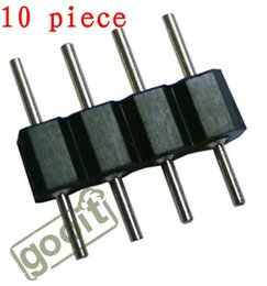 Wholesale Rgb Led Strip Male Connector - 10pcs 4 Pin Plug Male To Male RGB Connector For 3528&5050 RGB LED Strip, dandys