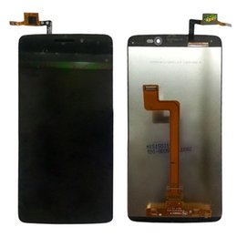 Wholesale Alcatel Digitizer - For Alcatel One Touch Idol 3 OT6045 6045 LCD Display with Digitizer Touch Screen Assemblely Black Free Shipping