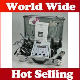 Maquinas faciales de salon online-Microcorriente portátil bio lifting facial cuidado de la piel tonificación mágico guante Spa Salon belleza máquina B809