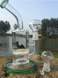 Wholesale Fish Glasses - Two Functions Glass water pipes Cute Animal Funny Green Turtle Colorful bong Eagle Fish Frog Honeycomb Oil Rigs Bongs dab oil rig heady