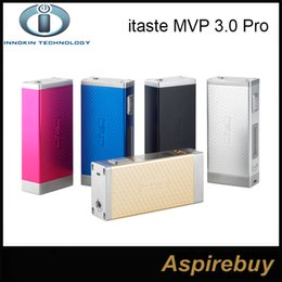 Wholesale Mvp Batteries - 100% Original Innokin iTaste MVP 3.0 Pro Starter Kit with iSub G Tank MVP 3.0 Pro 60W MVP 60W 4500mah Battery Box Mod 5 Colors In Stock