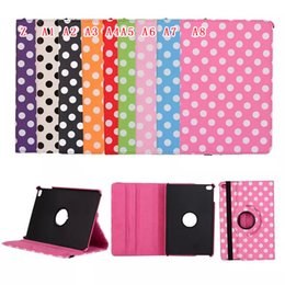 Wholesale Girls Ipad Covers - 360 Degree Rotating Leather Flip Case Leopard Stand Pouch Girl Polka Dot Grape Retro UK USA Flag For Ipad Mini 4 mini4 7.9 tablet skin Cover