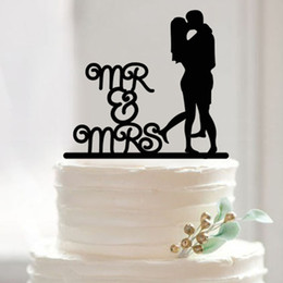 Wholesale Romance Wedding Cake Topper - Wedding Cake Topper Cake Decorating Acrylic Custom Romance Cake Topper Custom Birthday Cake Topper Mr & Mrs Wedding Cake Topper