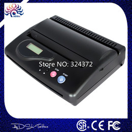 Wholesale Tattoo Transfer Machine Thermal Copier - Wholesale-Free Shipping High quality Cheap Black Original USB Tattoo Thermal Transfer Copier Printer Stencil Machine use A4 transfer paper