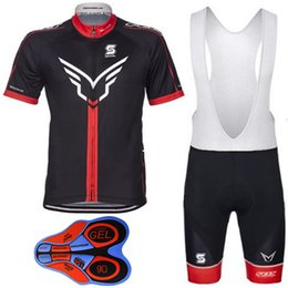 Wholesale Felt Jersey - 2017 Black Red Felt Cycling Jerseys Short Sleeves Summer Style Men Women MTB Ropa Ciclismo Cycling Top + 9D Gel Padded Shorts XS-4XL
