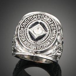 Wholesale Baseball Rings Yankees - AAA grade zircon Baseball fans souvenir ring 1936 New York Yankees championship ring men ring