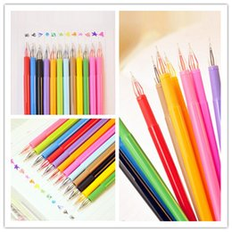 Wholesale Girls Ink Pens - Student Watercolors Fashion Students Cute Candy Color and Non-slip Neutral Pen Hot Girls Lovely Pure Color and Writing Smooth Watercolors 12