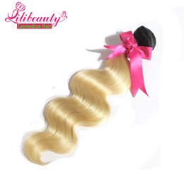 Wholesale Extention Human Hair Indian - Free shipping 7a cambodian virgin human hair extention 1b 613 blonde human hair top quality body wave cambodian hair 1pc lot