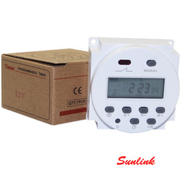 Wholesale Timed Relay Switch - Retail Package Digital Weekly Programmable Electronic Timer 220V 110V 24V 12V AC DC Smart Appliance Lights Time Relay Controller Switch