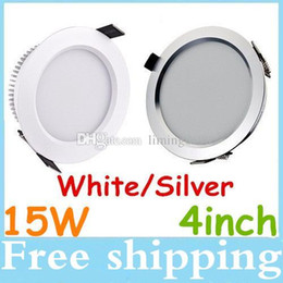 Wholesale Cool White Inch Led - Newest 4 Inch 15W Led Recessed Fixture Downlights 160 Angle Warm Cool White AC 110-240V Dimmable Led Down Lights + Drivers CE ROHS