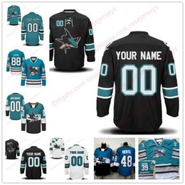 Wholesale sharks hockey - Stitched Custom San Jose Sharks mens womens youth OLD BRAND Blue White Black Teal Green Black Third Personalized ice Hockey Jerseys S-4XL