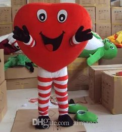 Wholesale Heart Character Costume - high quality valentines day outfits heart costume mascot cartoon character mascots for sale