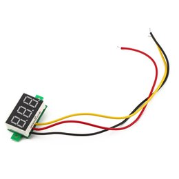 Wholesale Voltmeter Digital For Pc - Wholesale-1 Pcs Car DC0-100V three-wire Reverse polarity for protection for DC digital voltmeter Free Shipping Wholesale