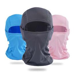 Wholesale Wholesale Skull Motorcycle Helmets - Windproof Mask Balaclava Hat Hooded Neck Winter Sports Breathable Face Mask Halloween Men Bike Motorcycle Helmet Beanies Masked Cap