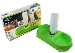 Wholesale Automatic Dog Water Dispenser - Free Shipping High Quality Dual Port Dog Utensils Bowl Cat Drinking Fountain Food Dish Pet Bowl Automatic Water Dispenser Feeder