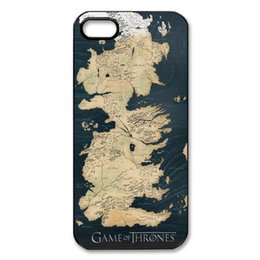 Wholesale Iphone 5c Map - Game of Thrones Map Case Cover for Iphone 4 4s 5 5s 5c