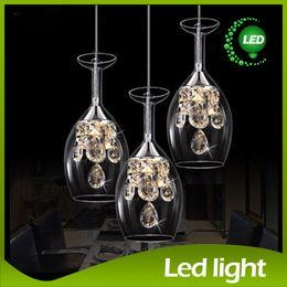 Wholesale G4 Led Lamp Indoor - Indoor lighting Wine Led Pendant Lamp Bar Dining Room Lamp LED Light Chandeliers 5W Wine Glass Shape Creative Brief Lamp Christmas lights
