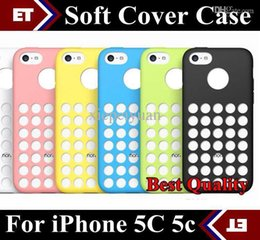 Wholesale Iphone 5c Dots - DHL 20PCS Plastic Case AAAA 1:1 Best Quality Soft Cover for iPhone 5C 5c case with small dot JD2